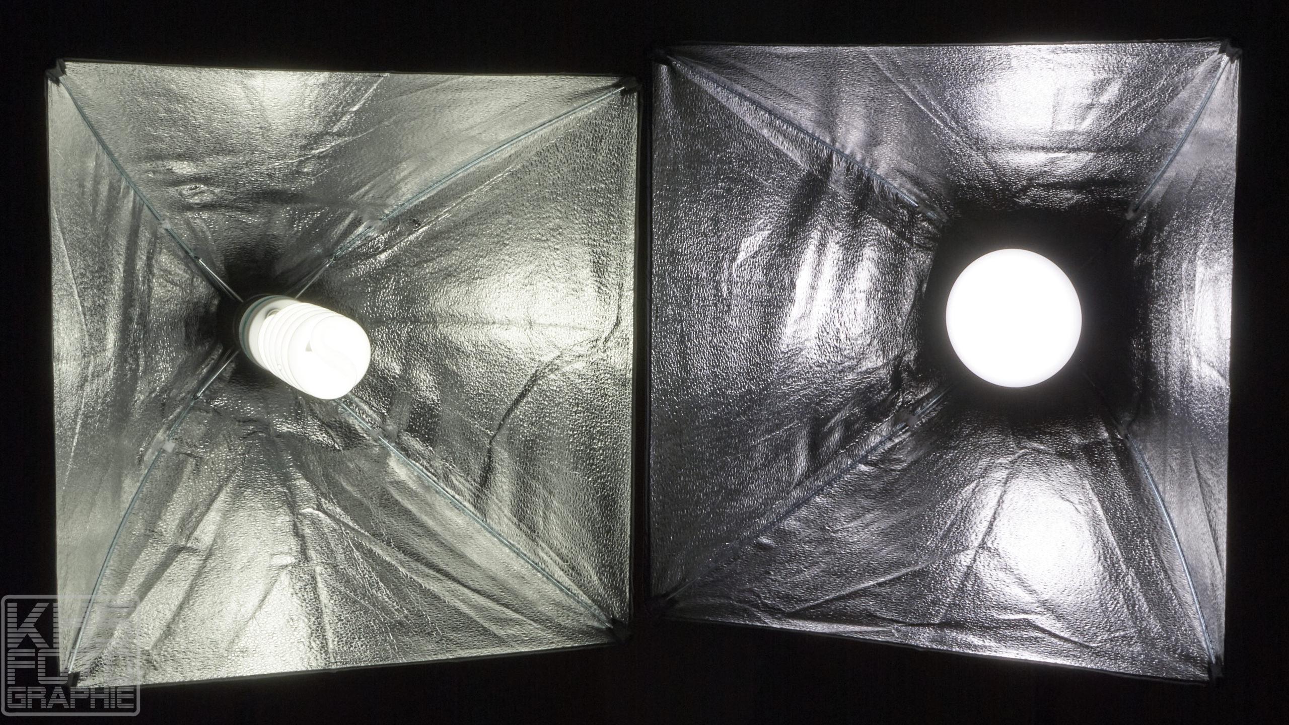 ESDDI Softboxen - Helligkeitstest