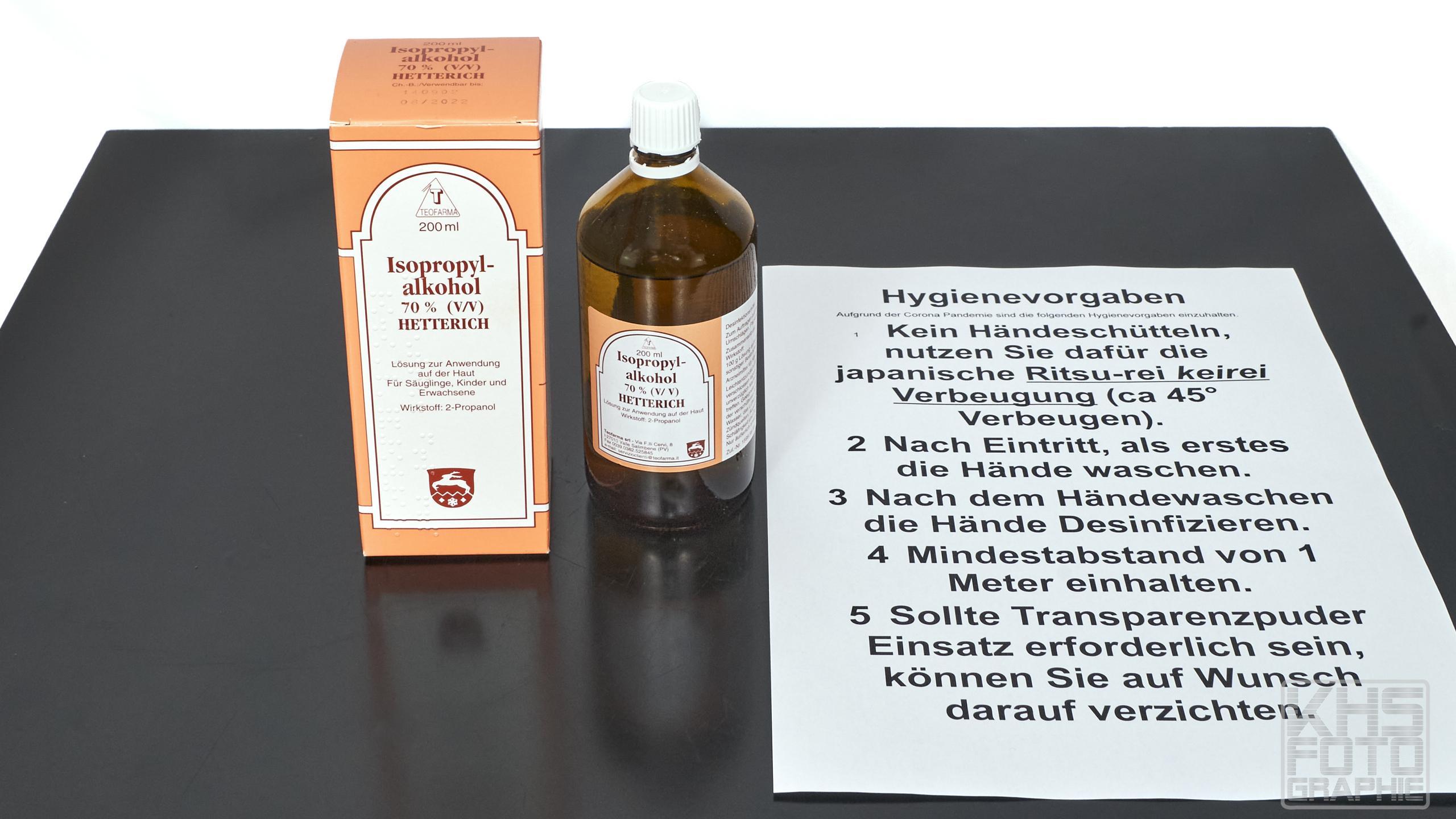 Corona-Pandemie - Hygienevorgaben | © 2020 by Karl - Heinz Schultze (KHSFotographie)