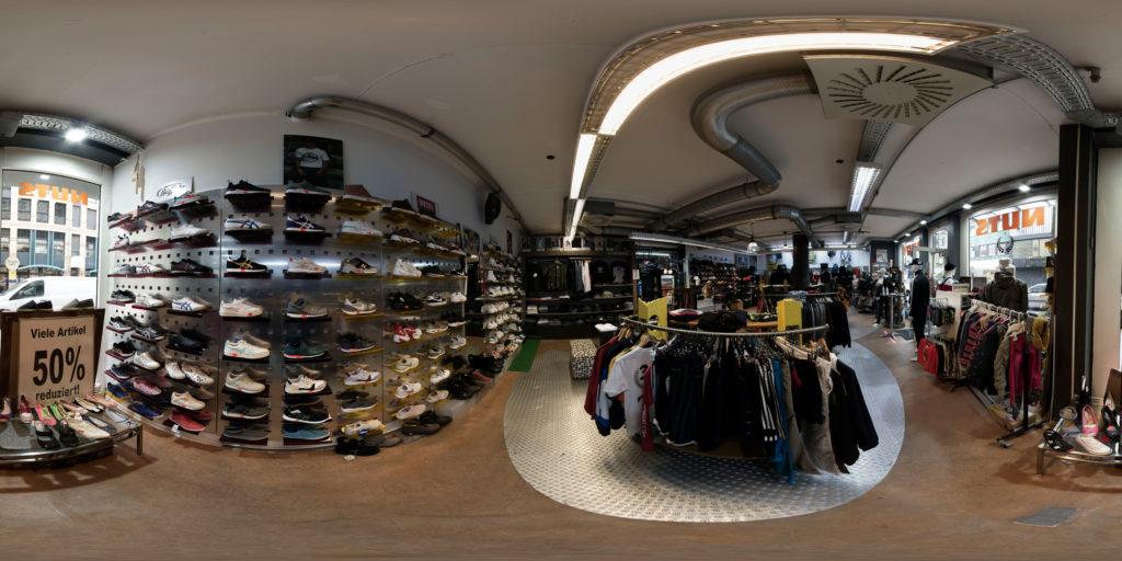 sphärisches Panorama für VR-Touren vom Nuts Style Ladenlokal