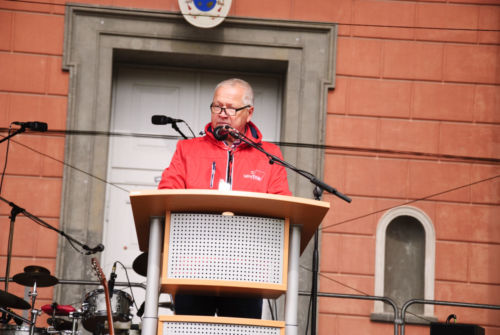 Mai Kundgebung der Gewerkschaften und Parteien
