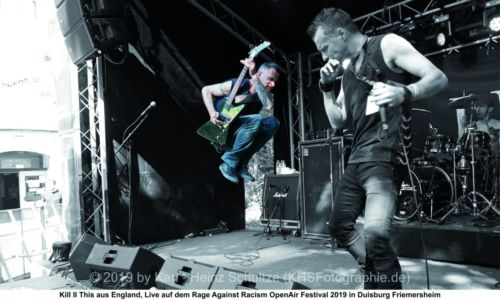Kill II This aus England, Liver auf dem Rage Against Racism Open Air Festival 2019 in Duisburg Friemersheim